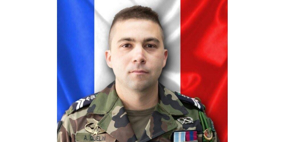 Hommage au maréchal des logis Adrien Quélin