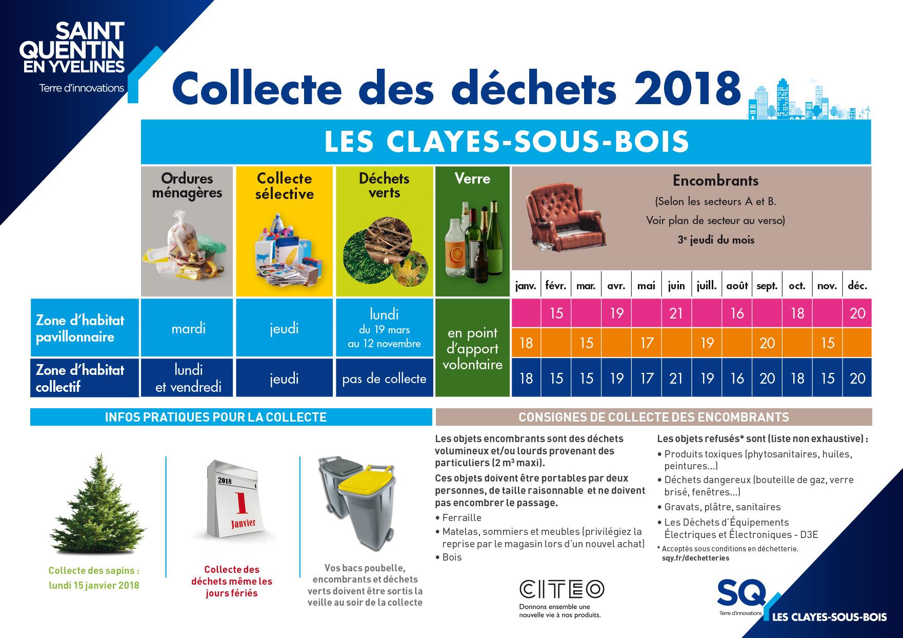 Calendrier de collecte 2019