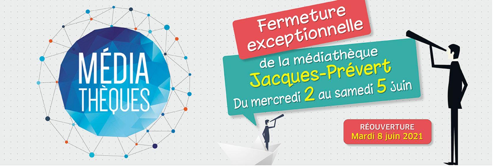 Médiathèque - Fermeture exceptionnelle du 2 au 5 juin