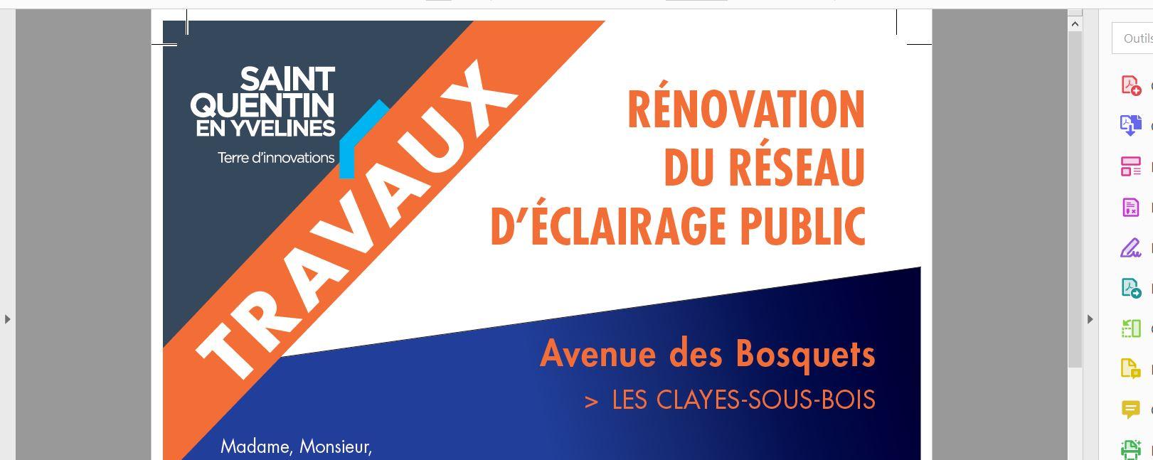 Travaux Avenue des Bosquets