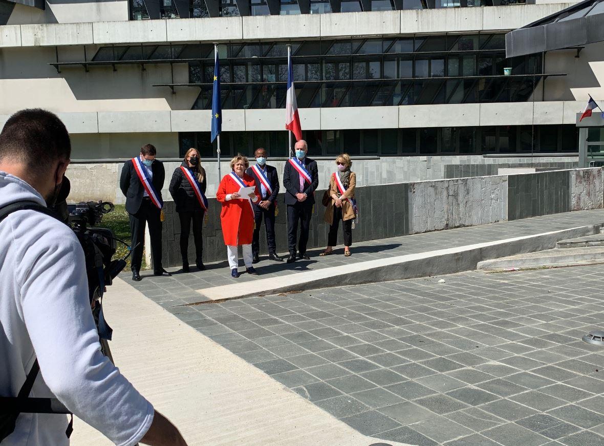 Sécurité - Conférence de presse des 6 maires de la circonscription