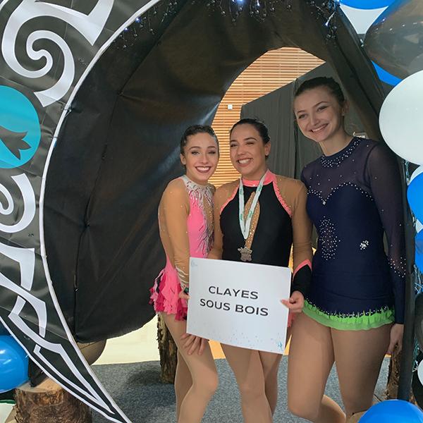 3 gymnastes sur le podium du championnat de France