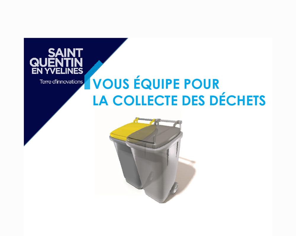 Distribution des bacs de collecte des déchets